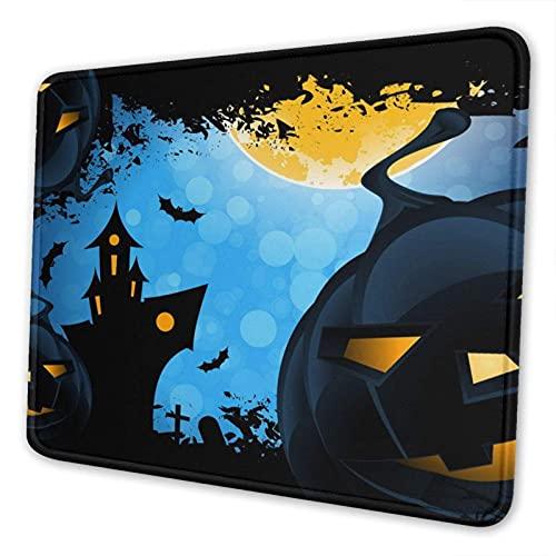 Gaming Mauspad, Halloween Kürbis Laterne rutschfeste Gummi Mausmatte Rechteck Super Mousepad für Laptop Arbeit waschbar Schreibtisch Schreibblock