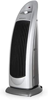 Orbegozo CR 5028 - Calefactor cerámico de torre, 2000 W, oscilante 90, función ventilador, termostato regulable, función antivuelco