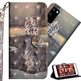 ISADENSER S20 Plus Case Samsung S20 Plus Case Gifts for Women [Wallet Stand] Kickstand Credit Cards Slot Cash Pockets PU Leather Flip Wallet Case for Samsung Galaxy S20 Plus 3D Cat View of Life YX