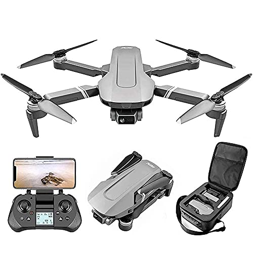 Drone con Cámara Drone Plegable con Cámara para Adultos 4K HD FPV Video En Vivo, Control De Gestos, Selfie, Retención De Altitud, Modo Sin Cabeza, Volteretas 3D, Cuadricóptero De 25 Minutos, para Niñ