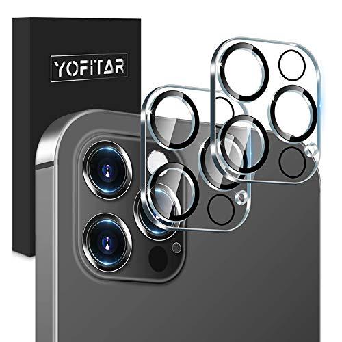 【202改良モデル】 YOFITAR iPhone 12 Pro 用 カメラフィルム 露出過度防止 アイフォン12 プロ 用 レンズ保...