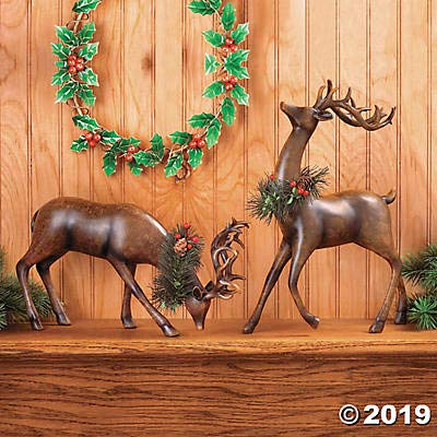 Image of A Holiday Favorite - Lovely Christmas Reindeer Figures