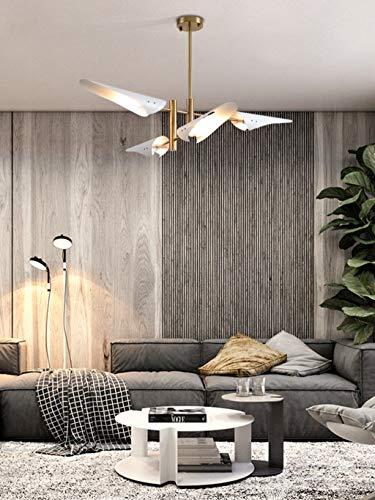 ZA Pendelleuchte Moderner Metall-LED-Esstisch Hängelampen Rotierender Kronleuchter Geeignet Für Schlafzimmer Arbeitszimmer E14 Deckenleuchte Innenbeleuchtung (4 Flamme)