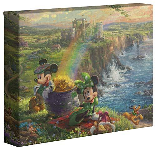 Thomas Kinkade Studios Disney Mickey and Minnie in Ireland 8