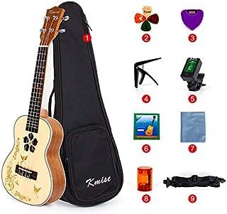 Konzert-Ukulele, Fichte massiv mit Mahagoni, 58,4cm (23 Zoll), 4-saitige Hawaii-Gitarre mit Starterset, von Kmise