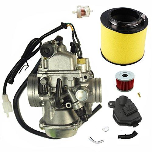 Carburetor w/Air Filter Oil Filter Fits Honda 350 Rancher TRX350TM/TE 2000-2006 New Carb heater