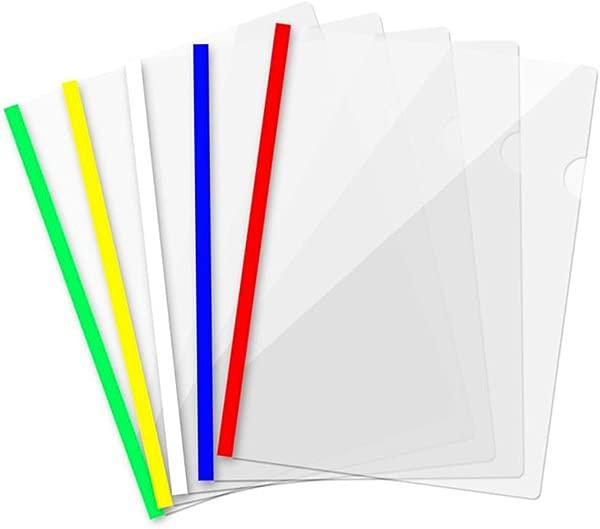 10PCS A4 Size Sliding Bar Binder Transparent Report Covers Folder For Documents Classification Premium Report Covers Transparent File Folder School Business Office Supplies Folder