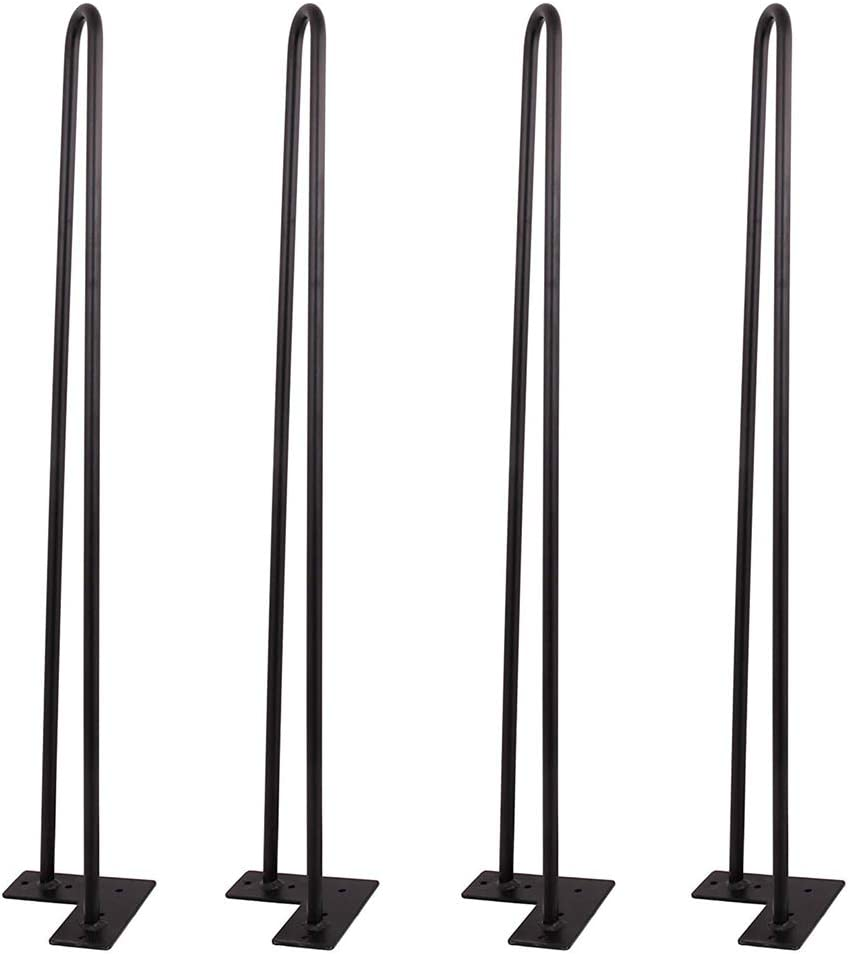 PENCK Hairpin Coffee Table Legs 22 Inch - 4 Easy to Install Metal Legs for Furniture - Mid Century Modern Legs for Dining and End Tables, Chairs, Home DIY Projects