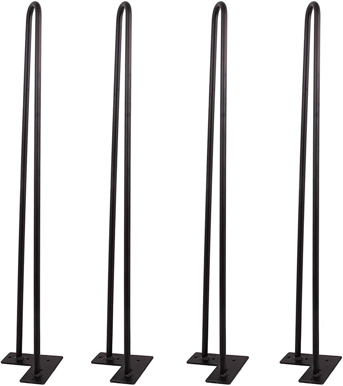 Penck 28 Inch Hairpin Legs - 4 Easy to Install Metal Legs for Furniture - Mid Century Modern Legs for Dining and End Tables, Chairs, Home DIY Projects