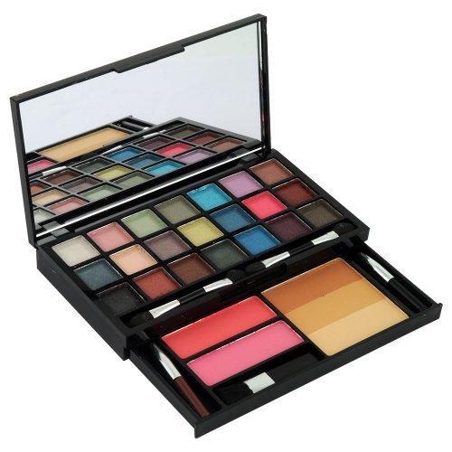 GLoss - Palette de maquillage - Visage & Ombres à paupières Mat et Shimmer incluant 2 blushs et des pinceaux