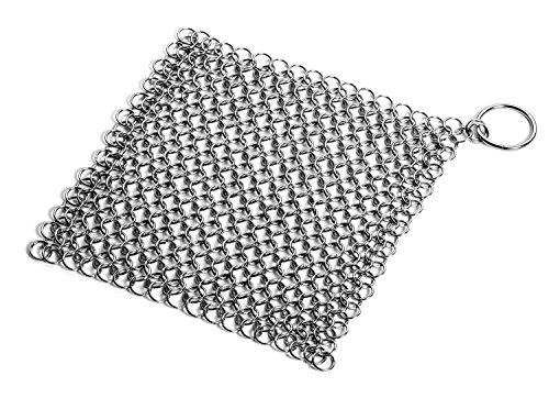 en fonte, acier inoxydable nettoyeur xl 7x7 prime chainmail épurateur