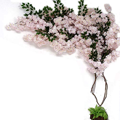 Artificial Cherry Blossom Garland, Artificial Cherry Tree Fake Tree Indoor Large Living Room Artificial Peach Tree Wedding Floor Decoration Green Plant,B