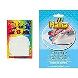 Hama 4552 - 4 tableros de piezas grandes , color/modelo surtido + Beads - Papel de planchado 3 hojas
