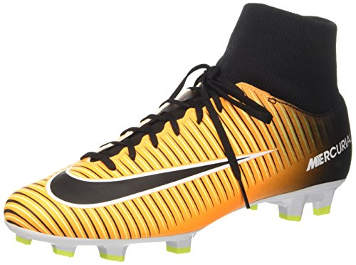 Nike Mercurial Victory VI DF FG Scarpe per allenamento calcio Uomo, Arancione (Laser Orange/Black/White/Volt), 45 EU(11 US)
