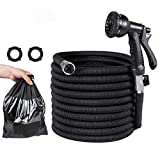Expandable Garden Hose, 50FT Flexible Water Hose, Triple Layer Latex & 8 Patterns Spray Nozzle for Home & Heavy Duty Commercial Use By Uvistare