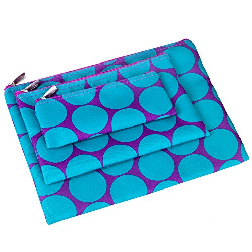 Wildkin Kids 3 Piece Zippered Organizer for Boys and Girls, Perfect Size for Packing School Supplies and Travel Essentials, 600-Denier Polyester Fabric Organizer Set, BPA-free,Olive Kids(Big Dot Aqua)