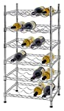 Muscle Rack WBS181435 24-Bottle Chrome Wine Rack, 18' by 14' by 35', 35' Height, 18' Width, 660 lb. Load Capacity