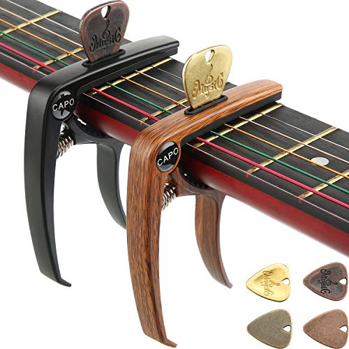 2 Pieces 3 in 1 Guitar Capo Zinc...