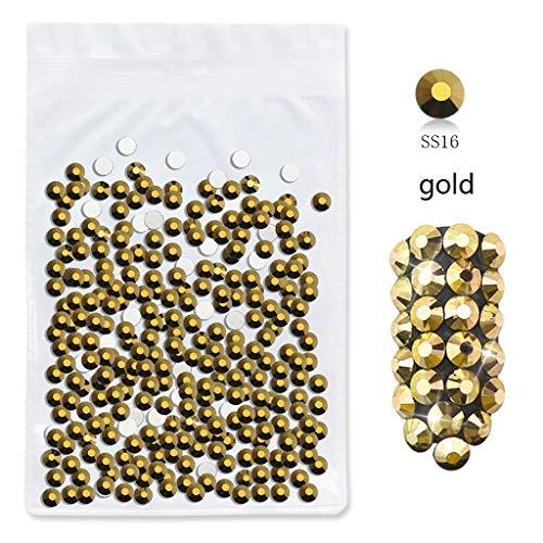 Nagelsticker 3D Nagel Kunst Jewelry Diamond Tips Bodenförmige Diamant Transparente Kristallmischung DIY Nail Art Aufkleber Dekoration (E)