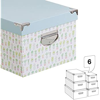 Home Line Caja Carton Juego 6 Unidades 21311143DC: Amazon.es: Hogar