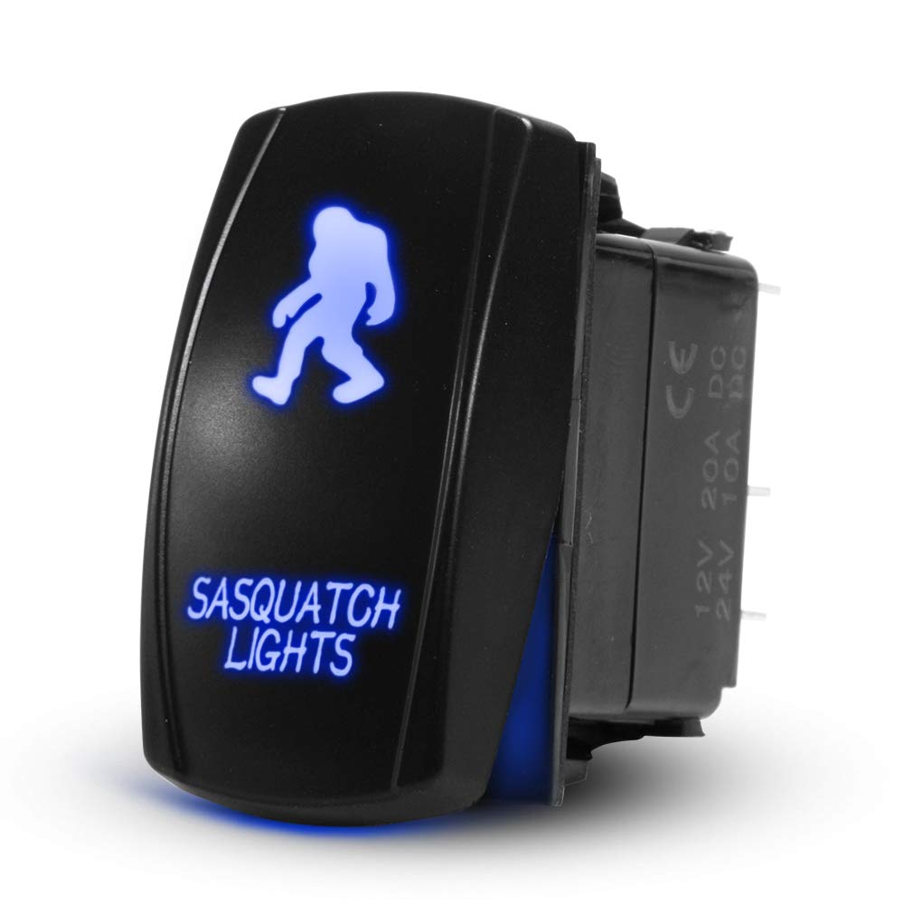 Sasquatch Light Rocker Toggle Switch Financial sales Opening large release sale sale LED Off On 20A Laser