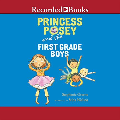 Princess Posey and the First-Grade Boys audiobook cover art