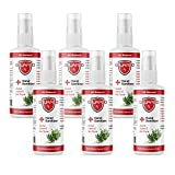 Guard-RX All Natural Hand Sanitizer - 6 Pack - 99.9% Effective Against Bacteria and Germs - Alcohol, Vitamin E and Red Thyme - 70+% Alcohol, Large Bulk Antibacterial Hand Gel Refill - 2 Fl Oz