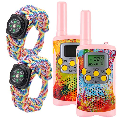 Kids Walkie Talkies Girls Toys - Gift for Children Over 4 Years Old 22 Channel 2 Way Radio 3 Miles Long Range Fit Outdoor Adventure Game Camp Hunt Trip Boys Girls Birthday Gifts Toys Aged 5-13