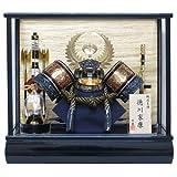 京寿 五月人形 兜飾り ケース入り 木製弓太刀付 間口43×奥行30×高さ38cm 12号徳川兜ケース飾り YN32727GKC