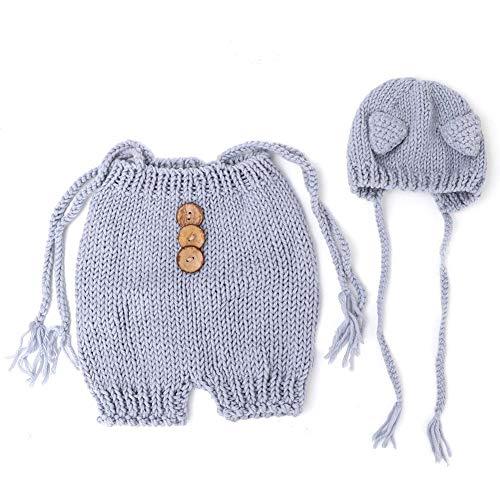 Pasgeboren baby fotografie Props trui en hoed Set Mooie vos kostuum baby breien doek