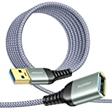 USB Extension Cable 10FT Type A Male to Female USB 3.0 Extension Cord AINOPE High Data Transfer Compatible with Webcam ,GamePad, USB Keyboard, Flash Drive, Hard Drive, Printer