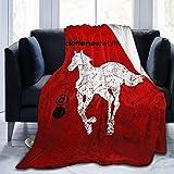 N \ A Deftones - Manta para póster de poni, ultra suave, manta de forro polar de microfibra, duradera, perfecta para sofá, cama, tamaño grande, 127 x 101 cm para adultos