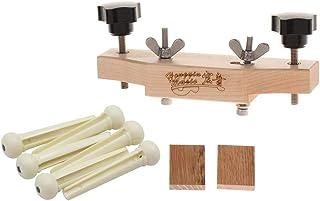 Flameer Solid Wood Acoustic Guitars Bridge Caul Clamp Cork Gasket Bridge Pins Set