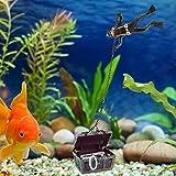Vcriczk Fish Tank Treasure Hunting Frogman, Caja del Tesoro del Tanque de Peces no tóxico Aspecto Hermoso con 1pcs para el Tanque de Peces para Aficionados