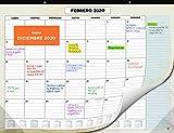 Calendario de Pared 2020 de SmartPanda – Calendario Mensual de Sobremesa –...