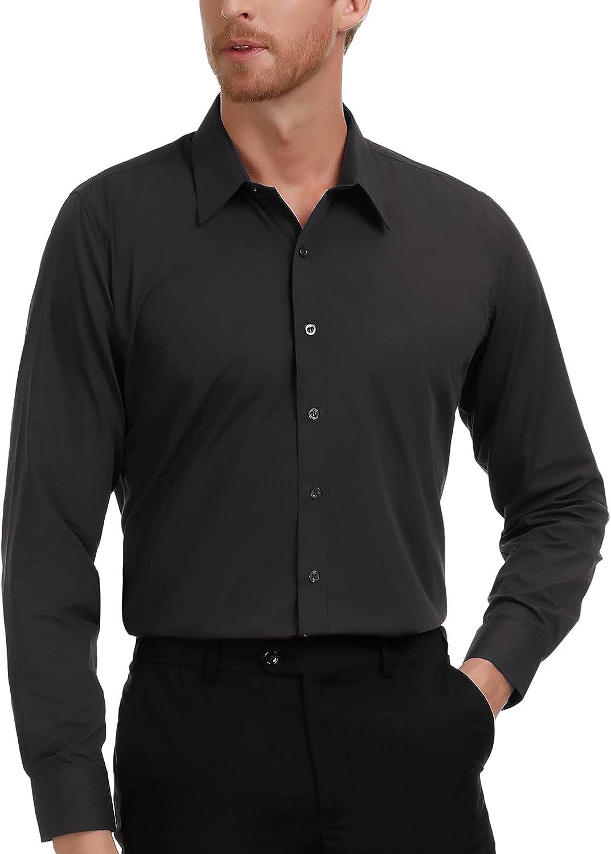 PAUL JONES Men's Business outlet Casual Sales Sleeves Long Shirts Dress