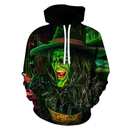 qishi suéter 3D impresión digital con capucha casual Halloween béisbol uniforme Calabaza-24 XXX-Large