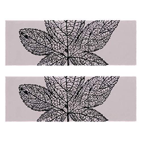 Toallas de gimnasio de fitness con hilado y hojas de impresión de secado rápido de microfibra para entrenamiento deportivo y sudor para hombres y mujeres, paquete de 2