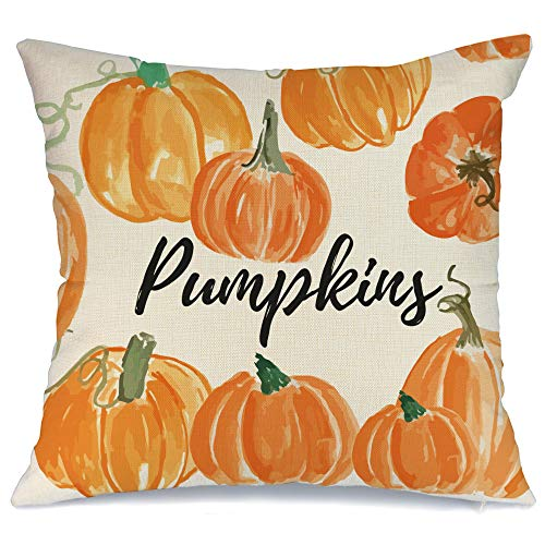 AENEY - Funda de almohada de 18 x 18 cm para decoración de otoño, decoración de otoño, funda de cojín decorativa para sofá, sofá, decoración de otoño, 2005bz18