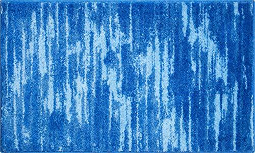 Grund Badteppich 100% Polyacryl, ultra soft, rutschfest, ÖKO-TEX-zertifiziert, 5 Jahre Garantie, FANCY, Badematte 60x100 cm, blau