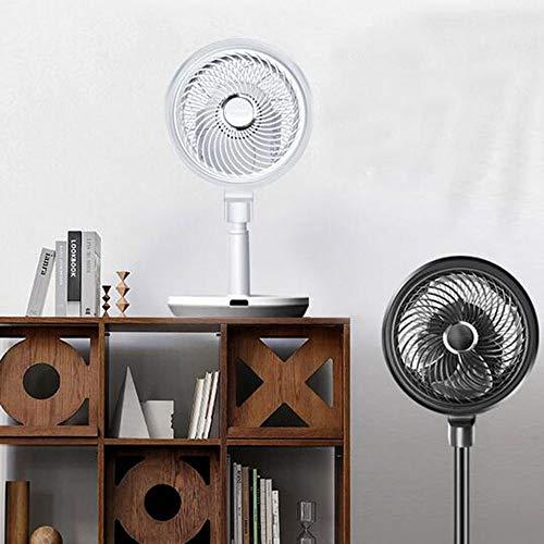 KK Gabby Un ventilador de circulación de aire, con el entorno de la base del ventilador 3 modos, el control de cambio 4, movimiento oscilante 3D, temporizador 8H (color: blanco)