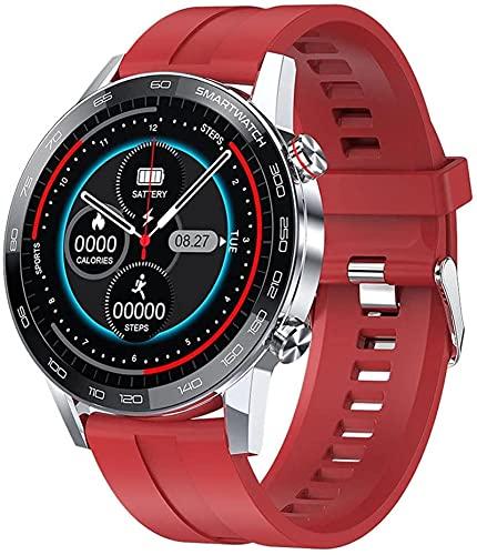 ZXCVBNN Smart Watch Pantalla táctil Reloj de Pulsera con cámara Bluetooth Impermeable SmartWatch Sports Fitness Tracker Silver (Color: C)