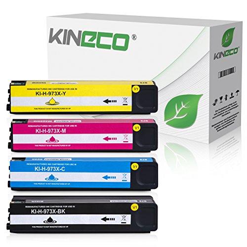 4 Kineco Tintenpatronen kompatibel zu HP 973X für PageWide Pro 452dn 452dw 452dwt 477dn 477dw 477dwt 552dw 577dw 577z