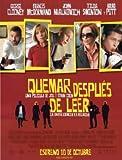 BURN AFTER READING - BRAD PITT - SPANISH – Imported Movie