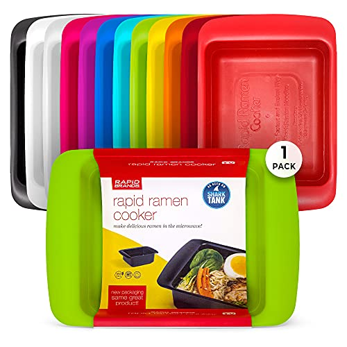 Rapid Ramen Cooker | Microwavable Cookware for Instant Ramen | BPA Free and Dishwasher Safe | Perfect for Dorm, Small Kitchen or Office | Green