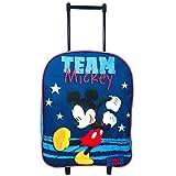 Mochila Trolley Grande Mochila Escolar con Ruedas 39cm Mochila Mickey Team, Color Azul