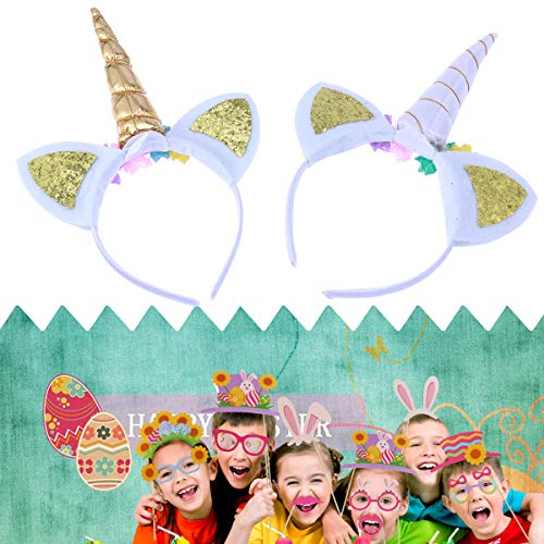 Lurrose 2 stks Eenhoorn Hoofdband Mode Favor benodigdheden Eenhoorn Hoorn Hoofdbanden voor Kinderen Make-up Cosplay Party