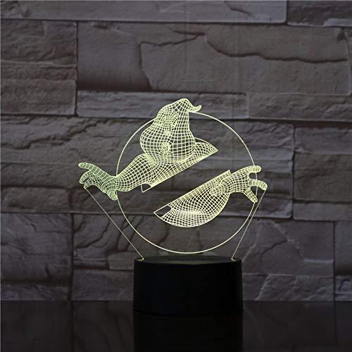 Nur 1 Stück Ghostbusters LED Nachtlicht Dekoration 3D Lampara Touch Sensor RGB Nachtlicht Kind Kinder Geschenk Tischlampe Ghostbusters Schlafzimmer