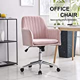 <span class='highlight'><span class='highlight'>Hironpal</span></span> Modern Velvet Dining/Office Chair Armchair Office Living Room Bedroom Accent Chair Ergonomics With Wheels Adjustable Rotary Lifter (Pink)