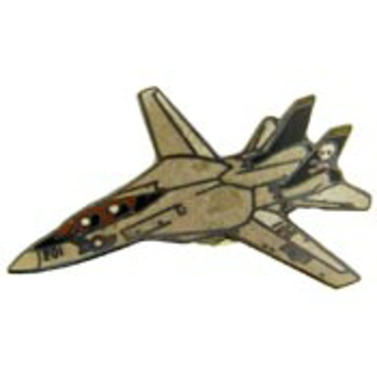 EagleEmblems P18080 Pin-APL,F-014A Tomcat,Gry (1.5'')